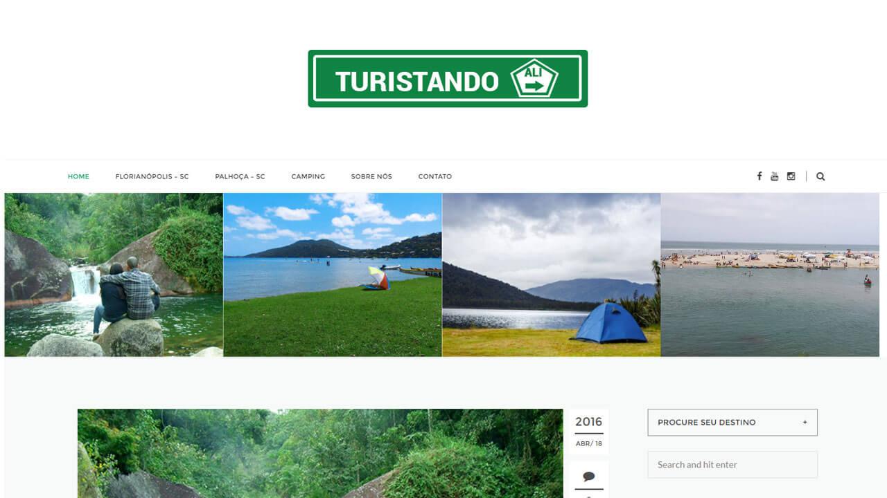 Desenvolvimento de Site - Blog Turistando ALi